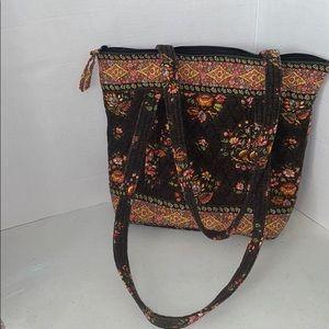 Vera Bradley brown floral purse